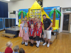 Year 1&2 team in assembly