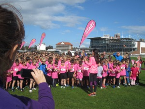 Everyone on the start line for the Knavesmire cross country run