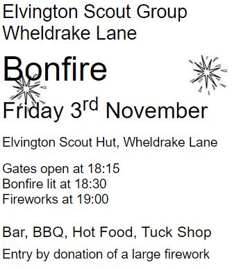 Elvington Scout Group Bonfire