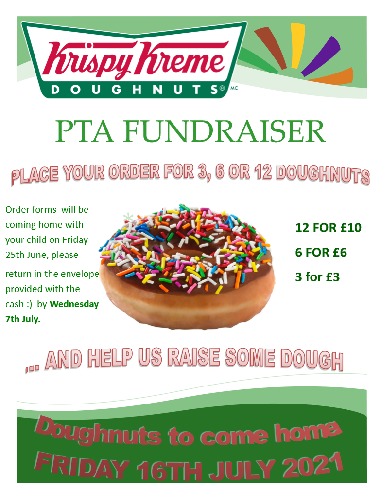 Please return order forms for PTA doughnuts!